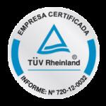 Empresa Certificada TUV Rheinland