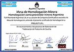 Certificado de Aptitud para la Industria Minera